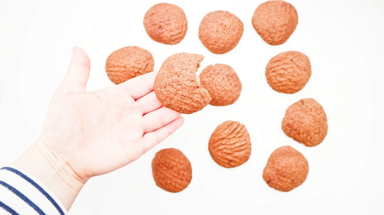 Crunchy zandkoekjes met cacao