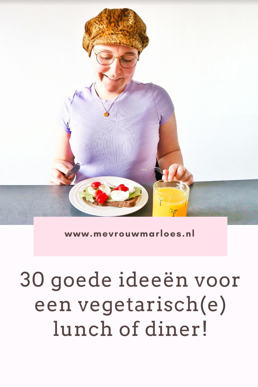 30 ideeën voor een vegetarische lunch of een vegetarisch diner